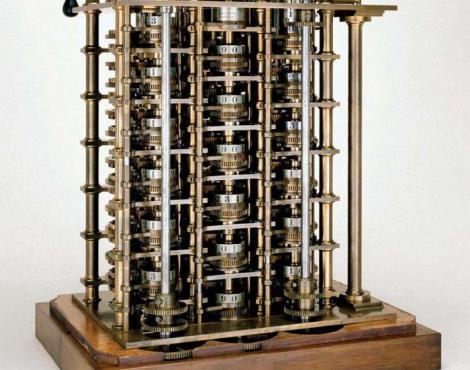 Часть разностной машины № 1 Чарльза Бэббиджа, собранной в 1832году, демонстрируется с 1862 году в Южном Кенсингтонском музее