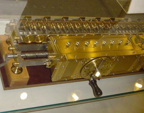 Копия арифмометра Лейбница в немецком музее г. Мюнхена