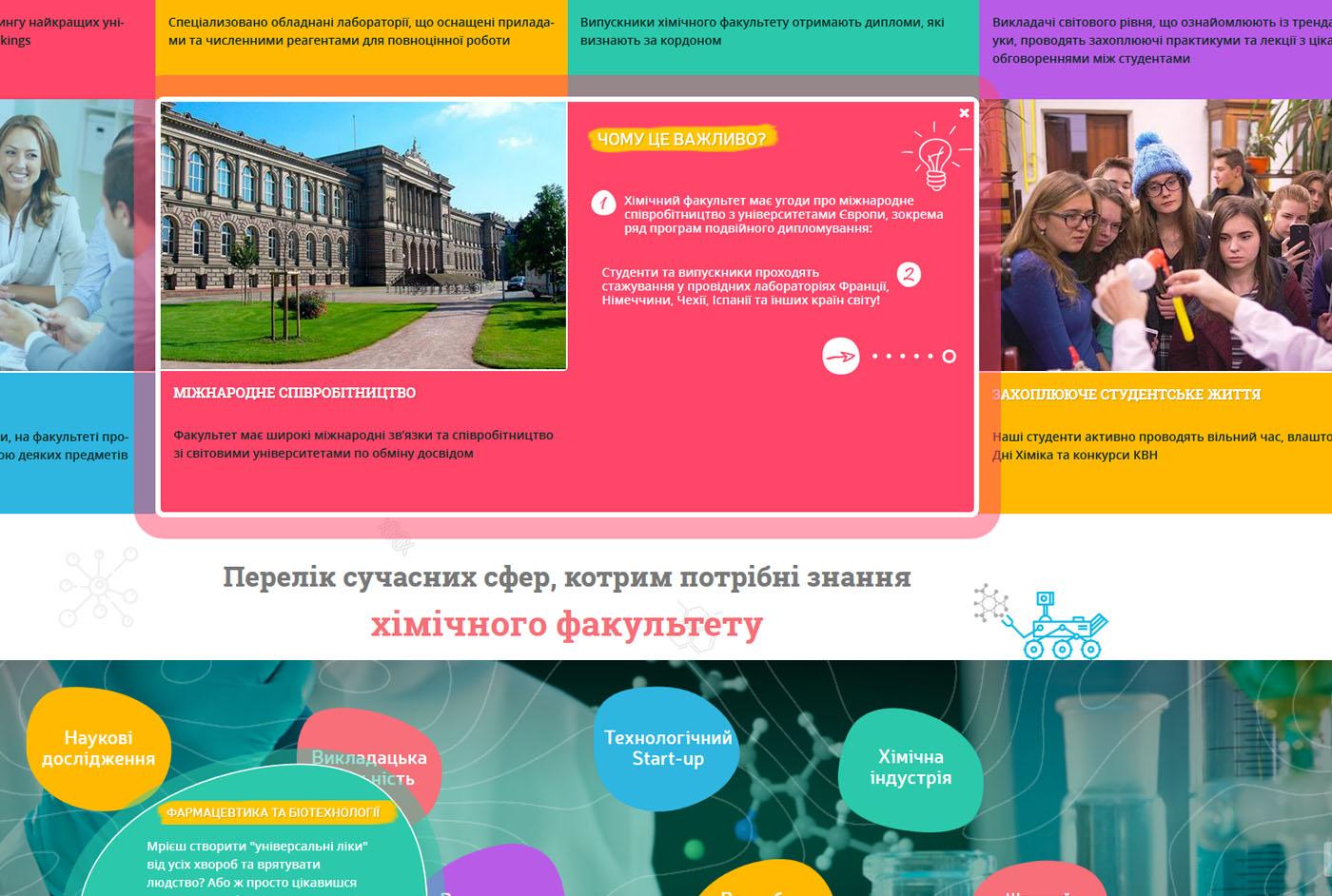 сайт для абитуриентов для университета